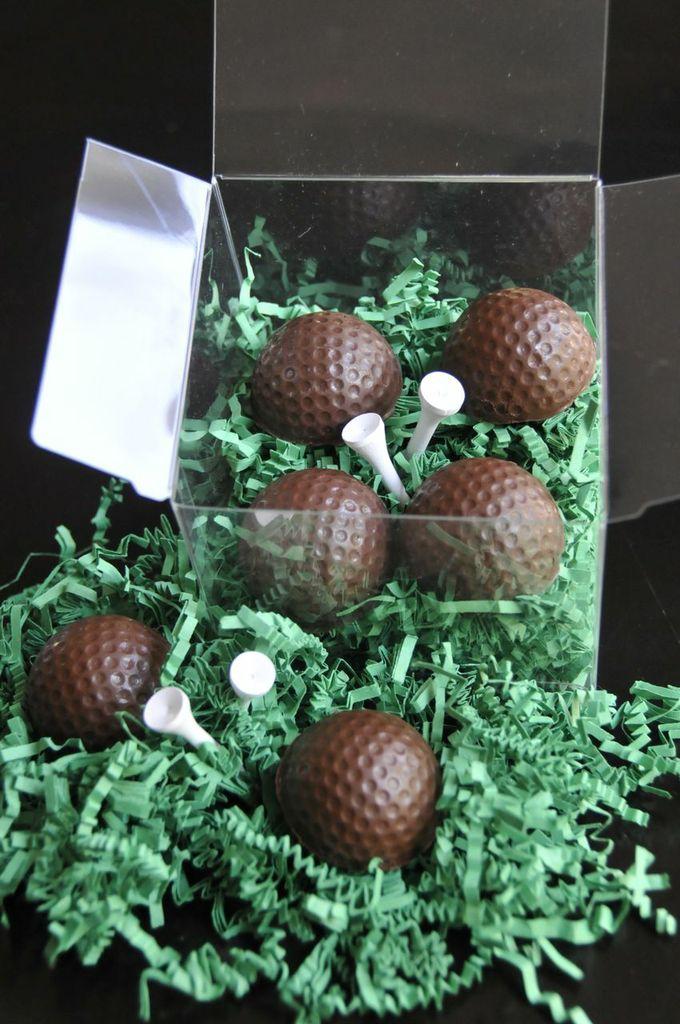 Bourbon Infused Golf Ball Truffles