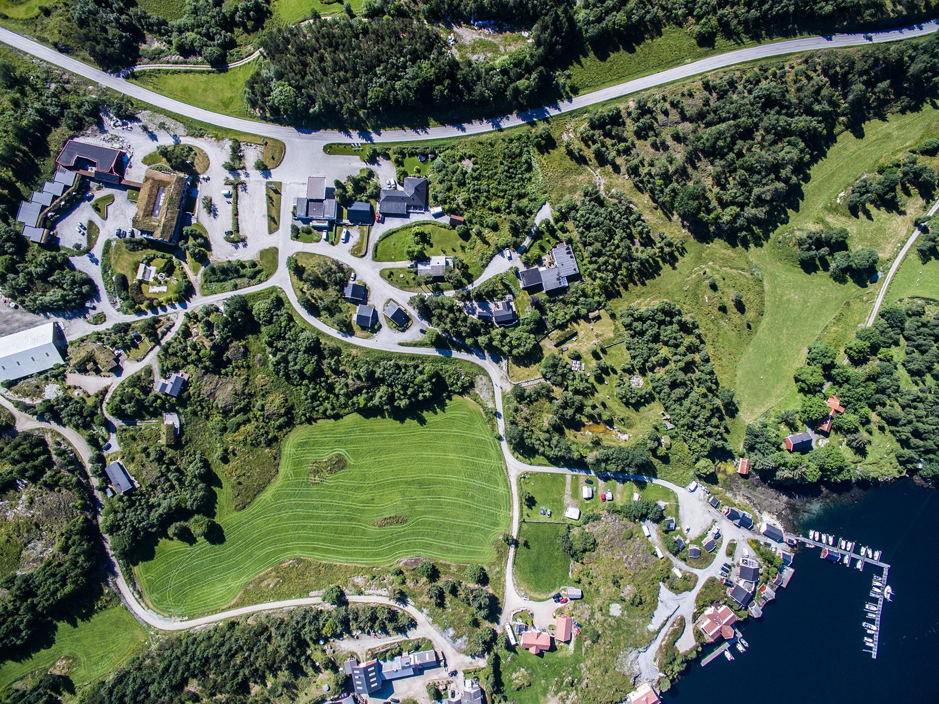 Flyfoto over Dolmsundet.