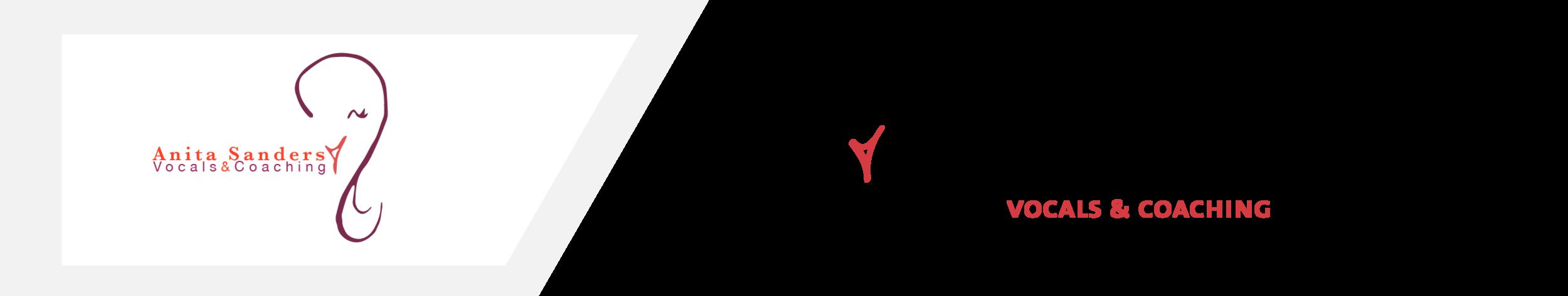 Links het oude logo, rechts het eerste voorstel voor het vernieuwde logo >>  aangepaste typografie, beeldmerk, kleuren en compositie.