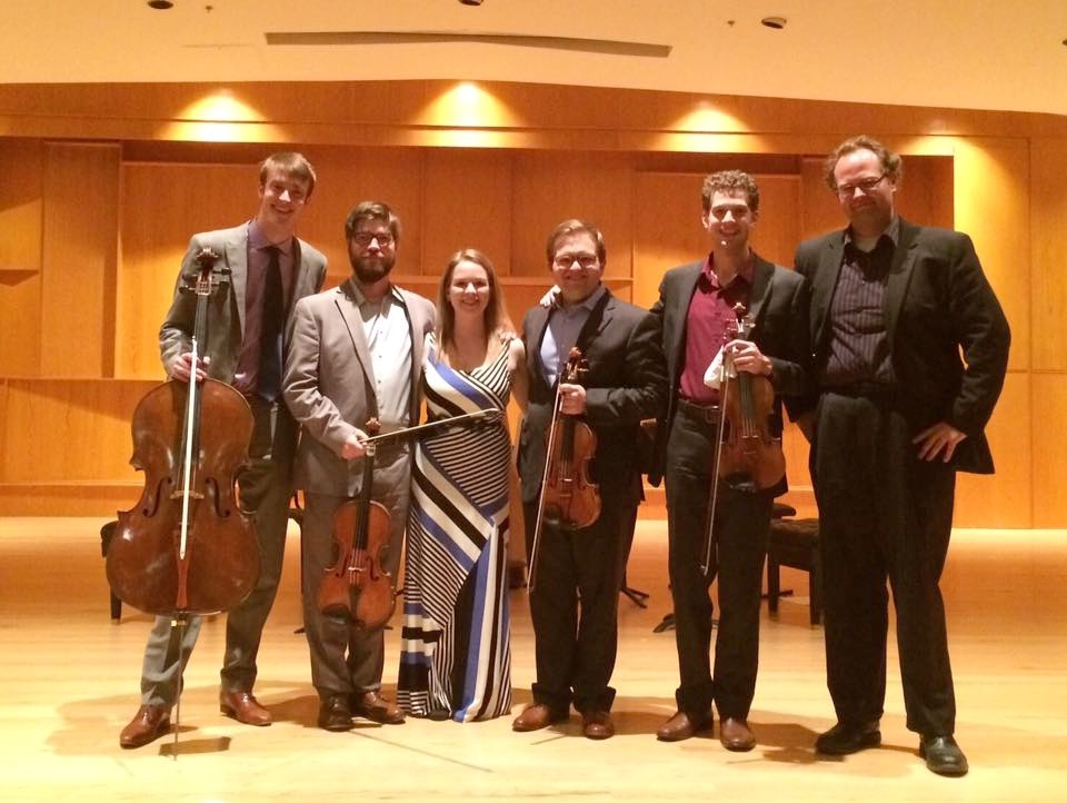 With the Altius Quartet and composer Kurt M. Mehlenbacher after the premiere of  I ran out of black paint and sunshine  2016