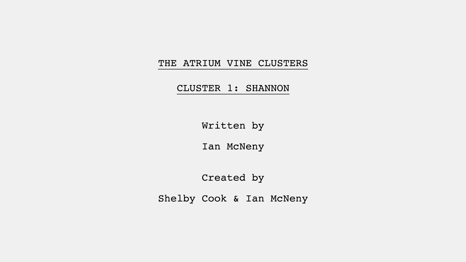 Vine 6 Second Series Pilot