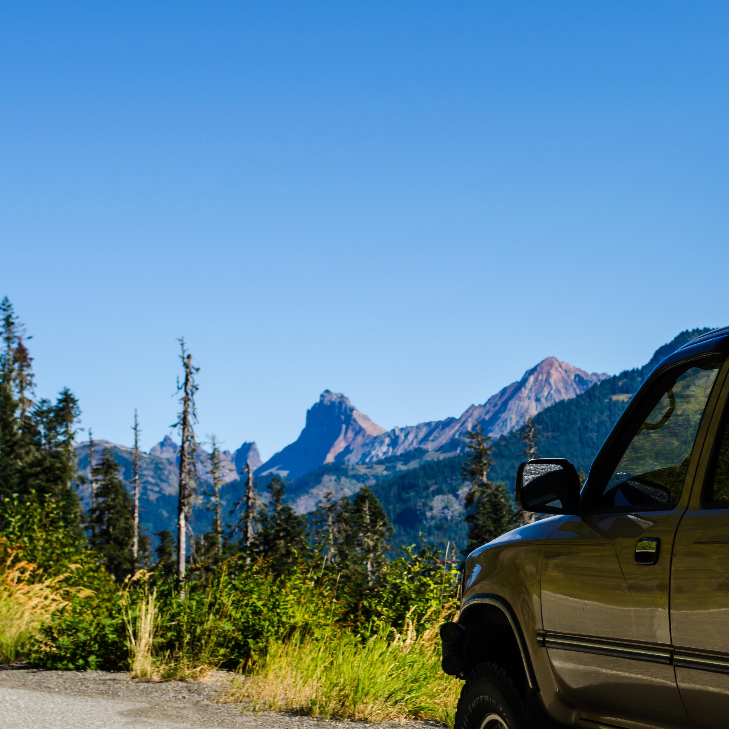 Bilbo on the Mt. Baker Highway, Aug. 2015.