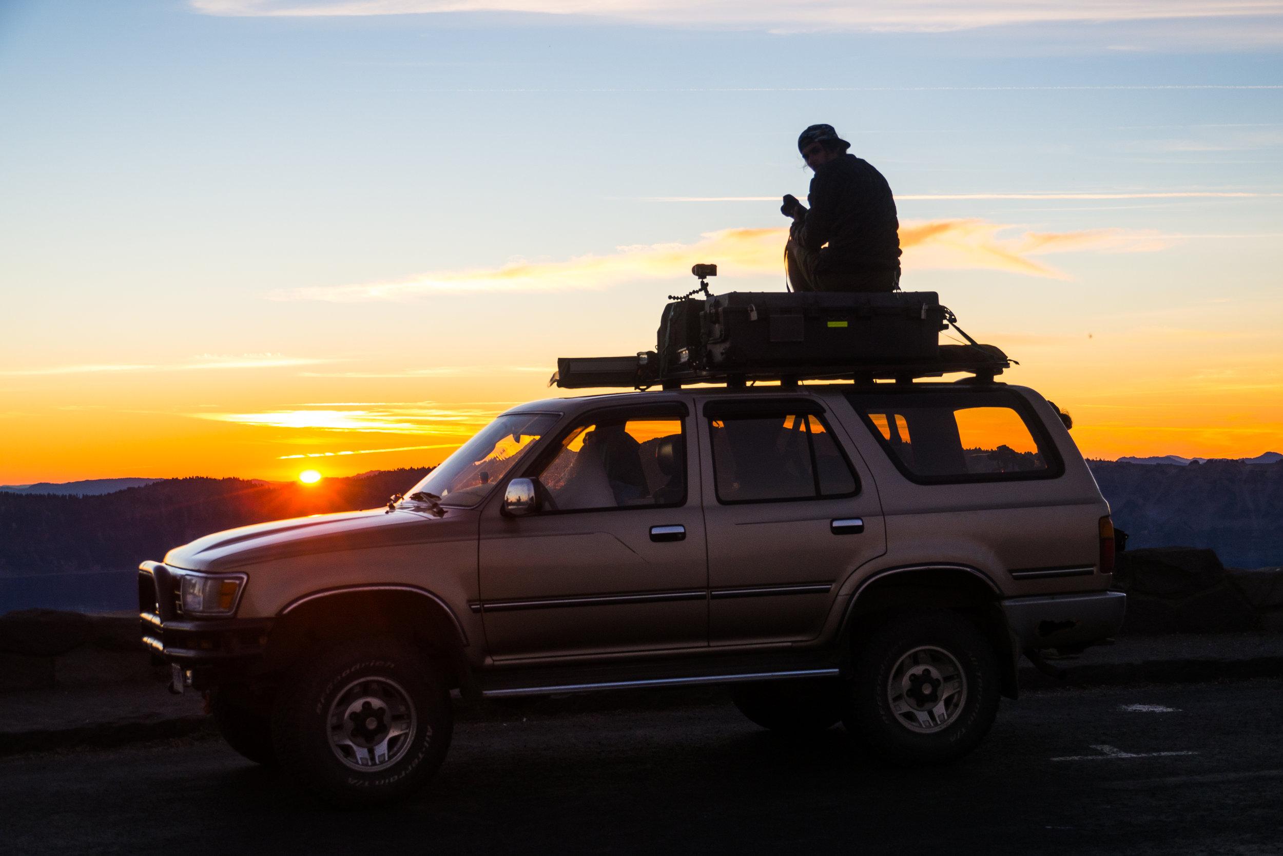 BONUS PHOTO: Me capturing bangers atop Bilbo. Photo Credit:  Danielle Seeliger .