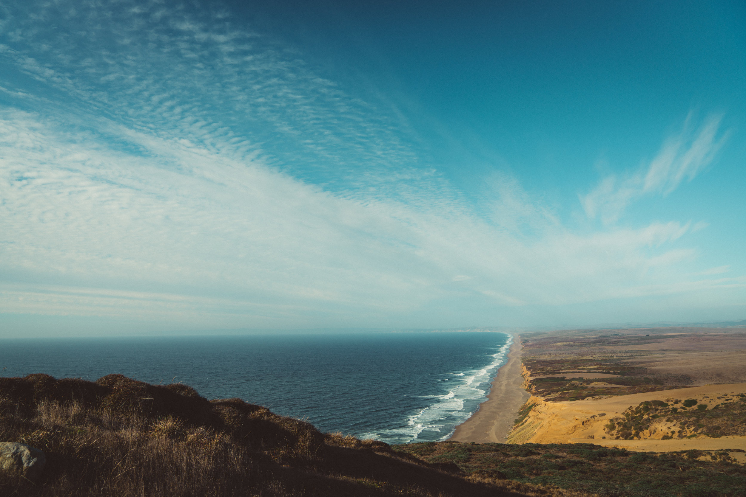 Point Reyes and its seemingly never-ending beach.