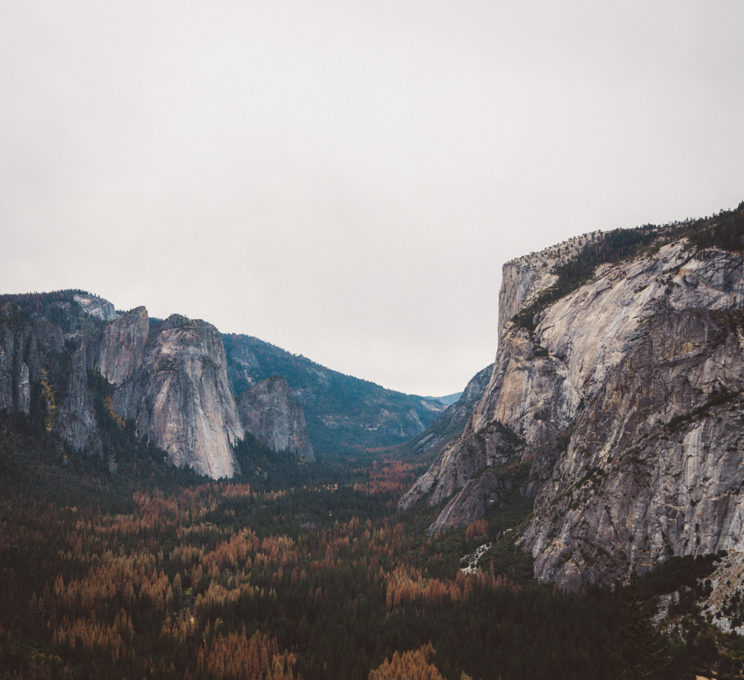 Yosemite Valley from along the 4 Mile Trail.