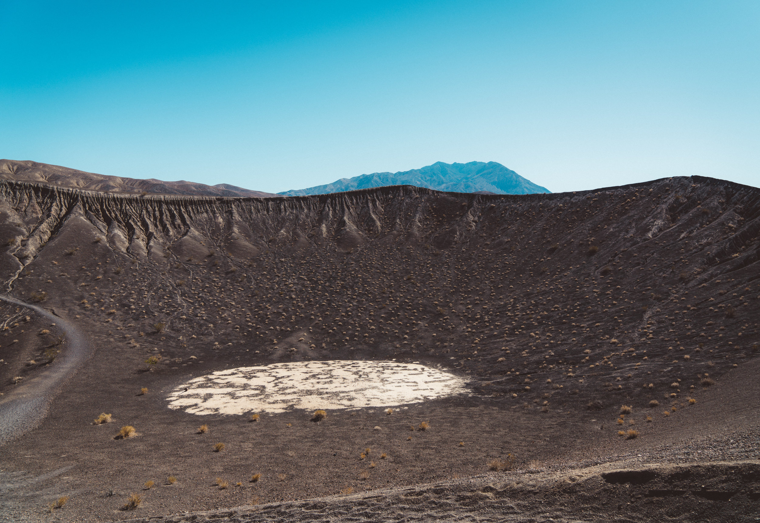 One of the other many volcanic craters surrounding Ubehebe.