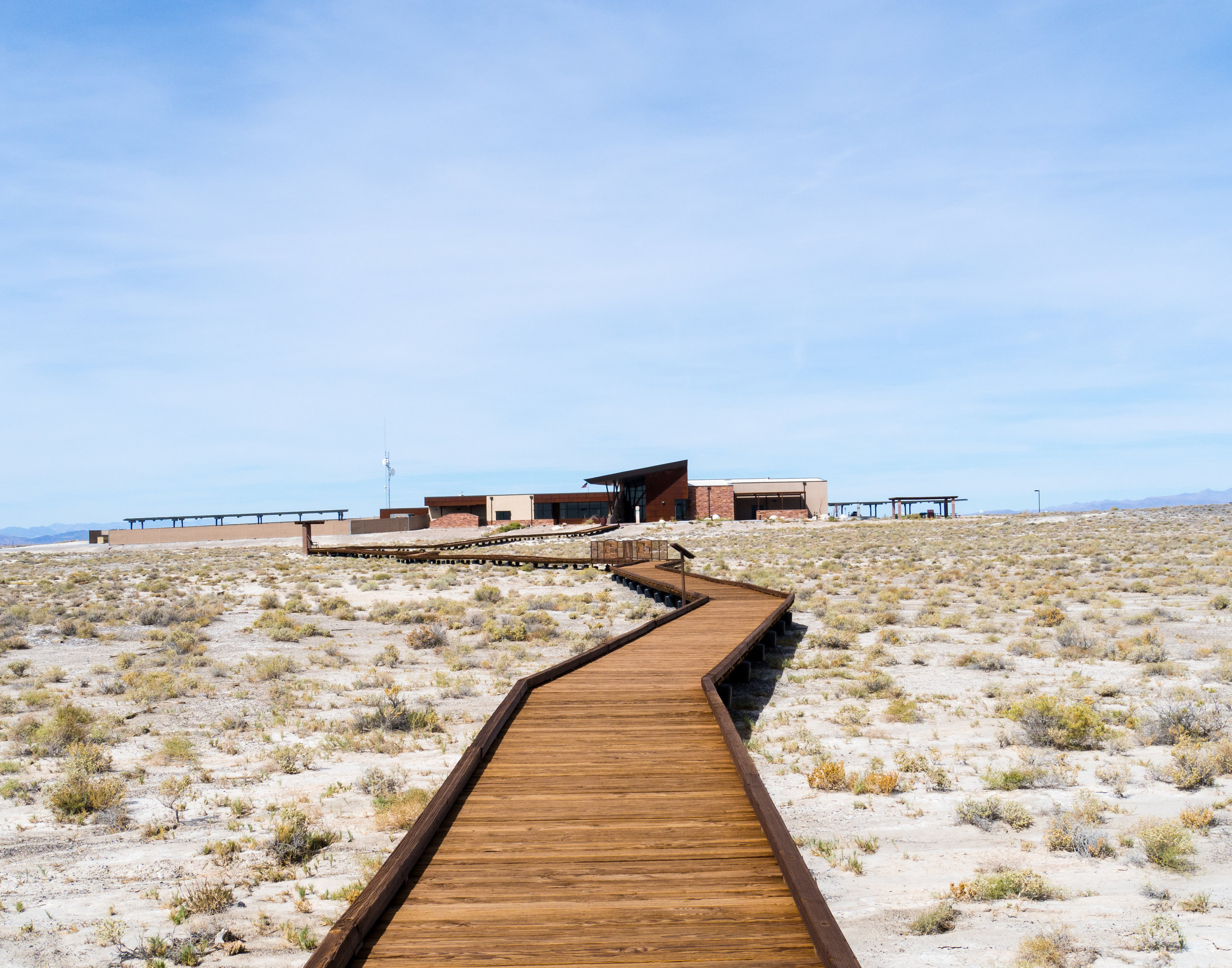 BONUS PHOTO: Ash Meadows Ranger Station from the Crystal Pool boardwalk. Photo Credit:  Danielle Seeliger .
