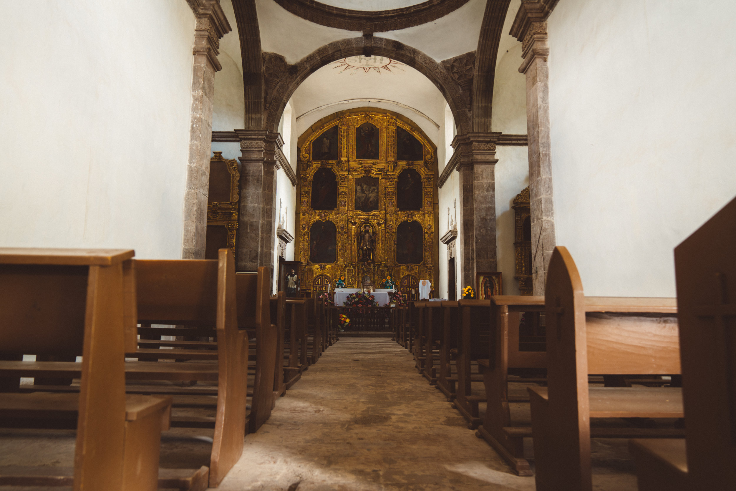The Mission's interior.