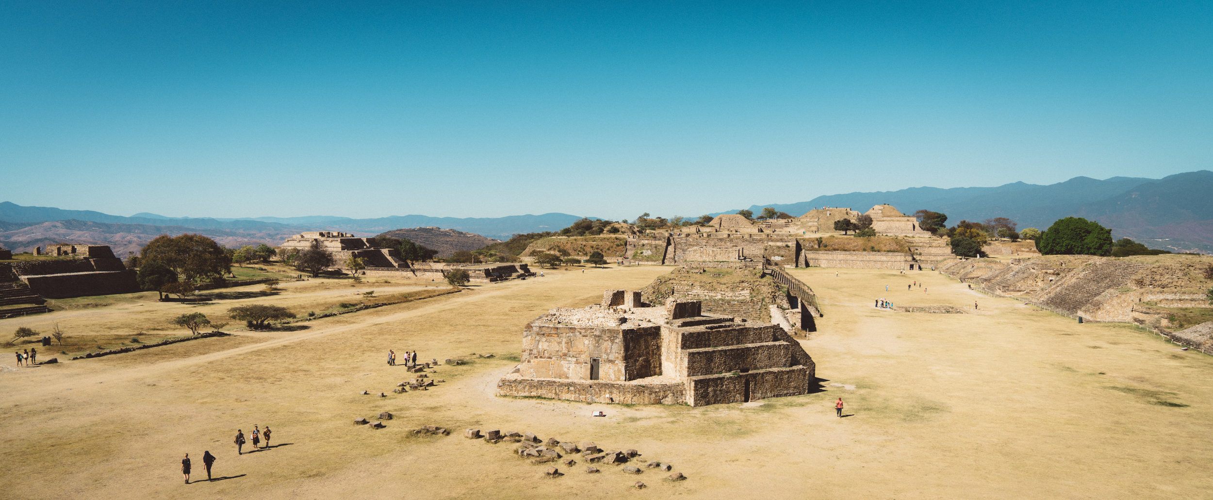 The Mayan ruins of Monte Albán