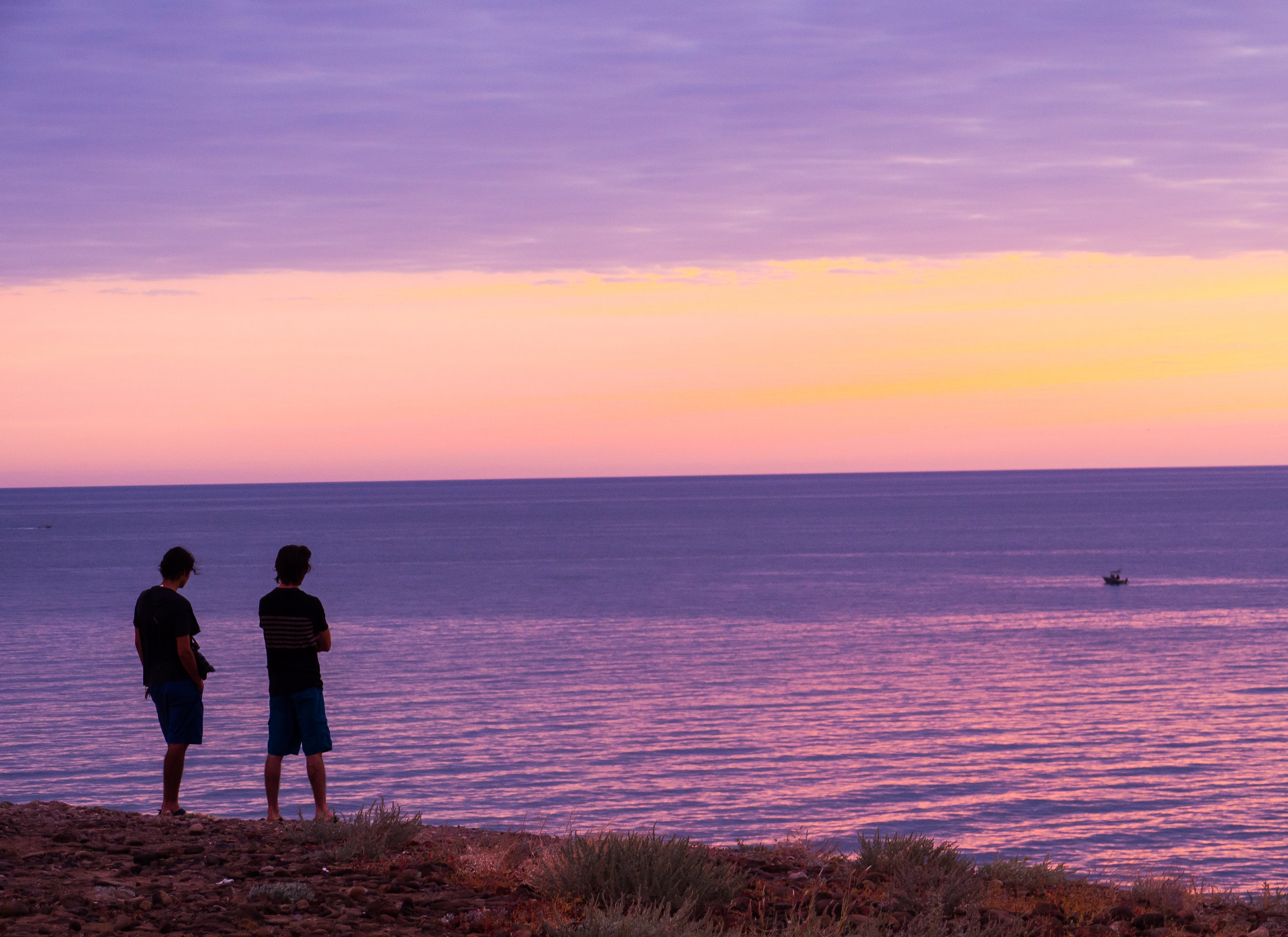 Bonus Photo: Min and I looking out to sea at our camp spot near Santa Rosalía. Photo Credit:  Danielle Seeliger .