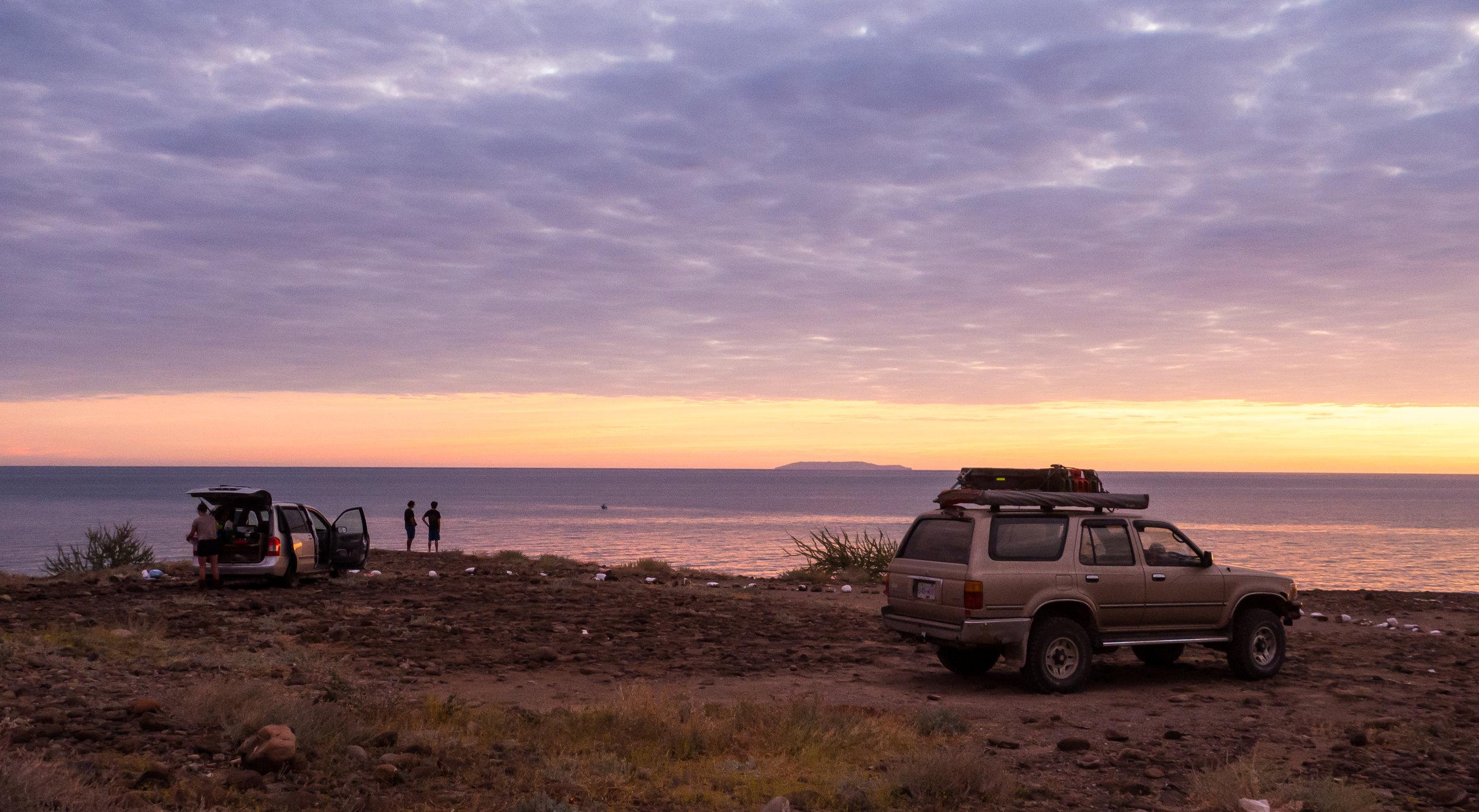 Bonus Photo: Our camp spot near Santa Rosalía. Photo Credit:  Danielle Seeliger .