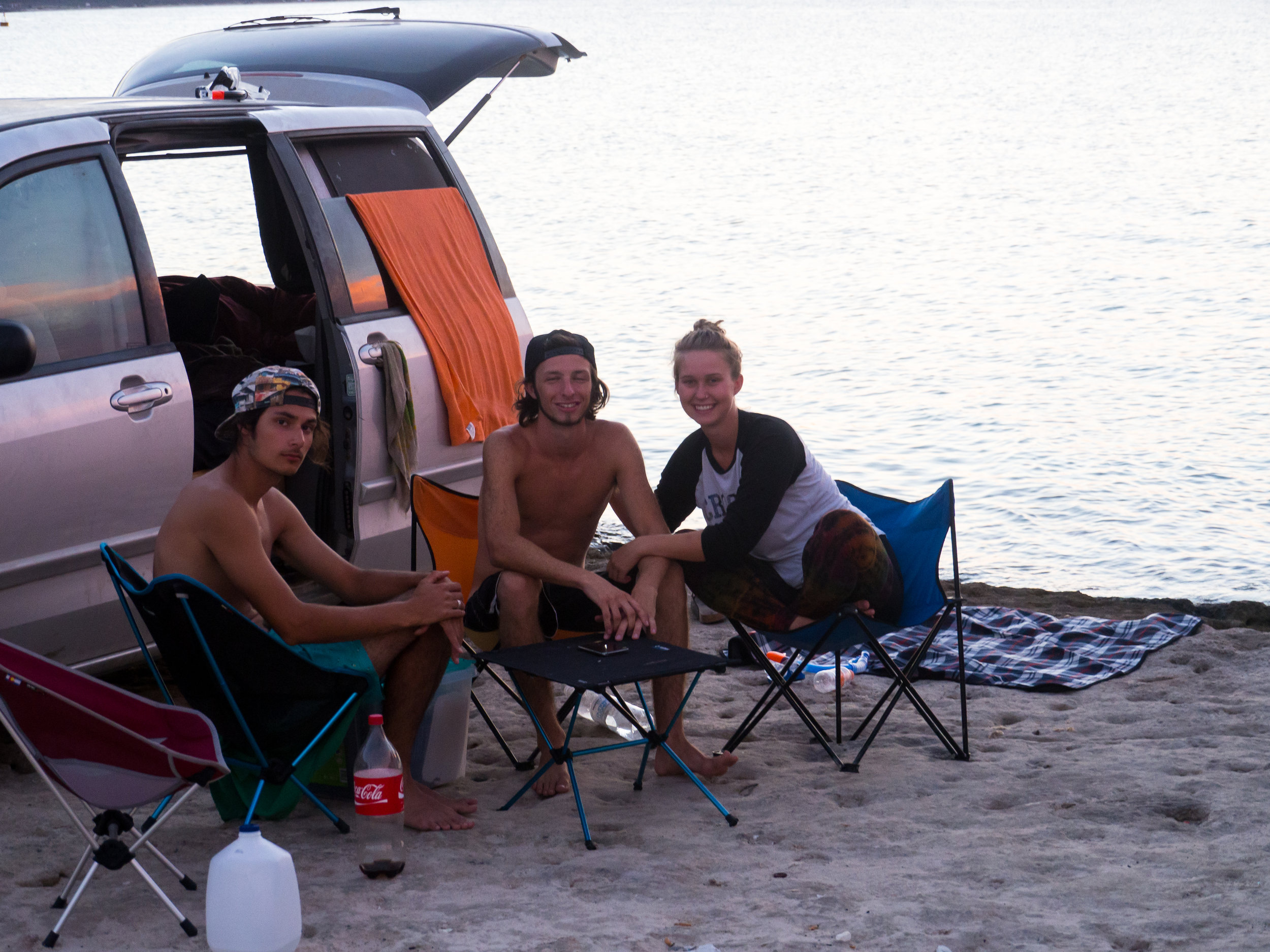 Bonus Photo: Where we camped close to La Paz. The reef was basically right behind us. Photo Credit:  Danielle Seeliger .