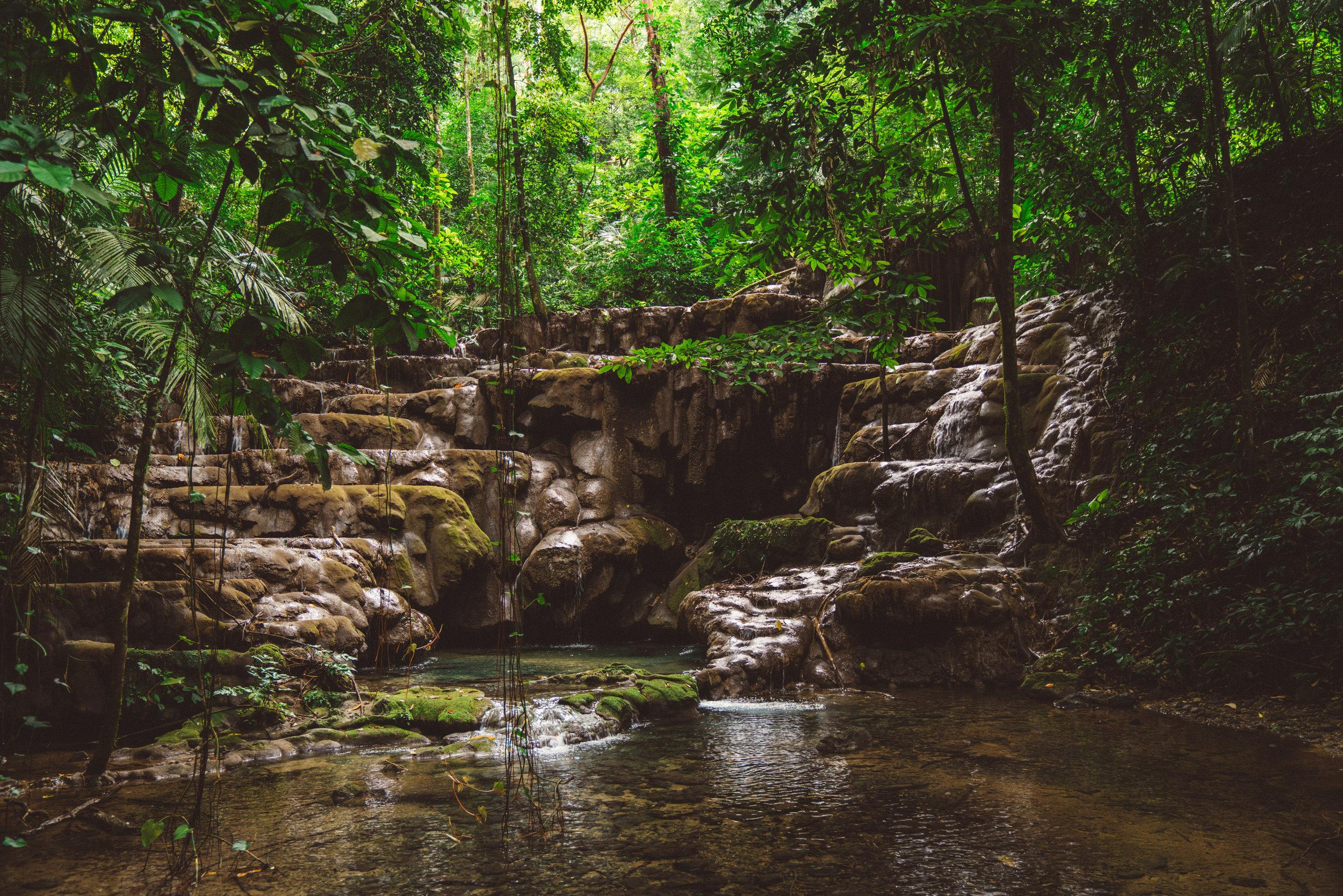 A river which runs through the ruins.