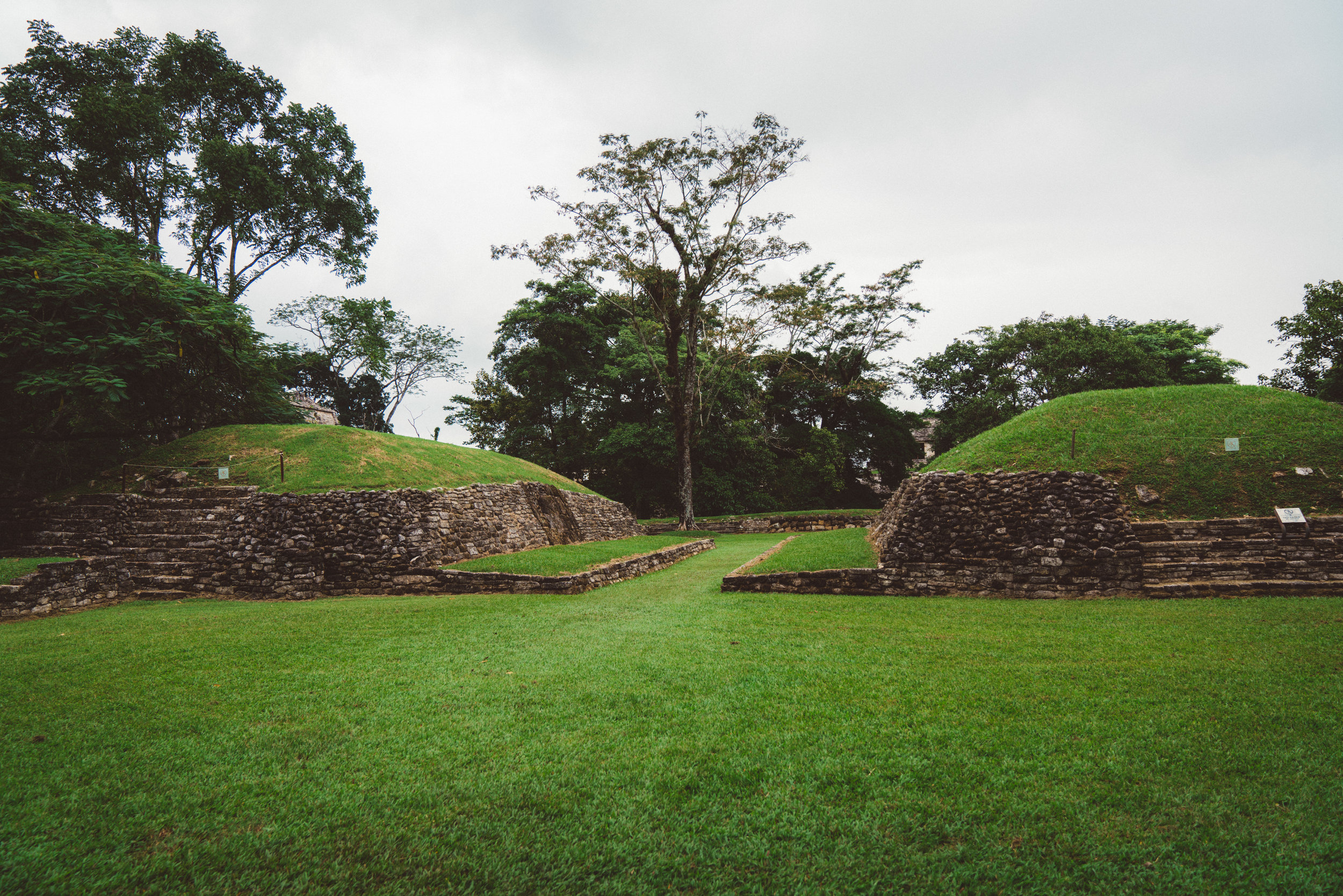 The ancient ball courts.