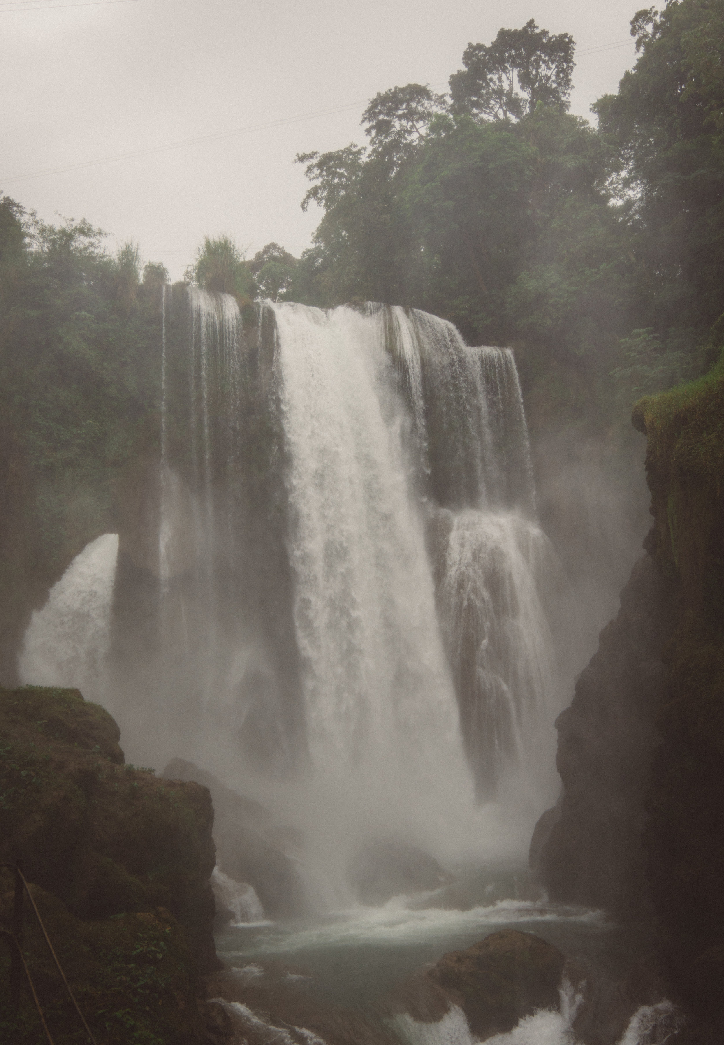 I tried to capture the falls from below, but the amount of spray was incredible. We were soaked within seconds.