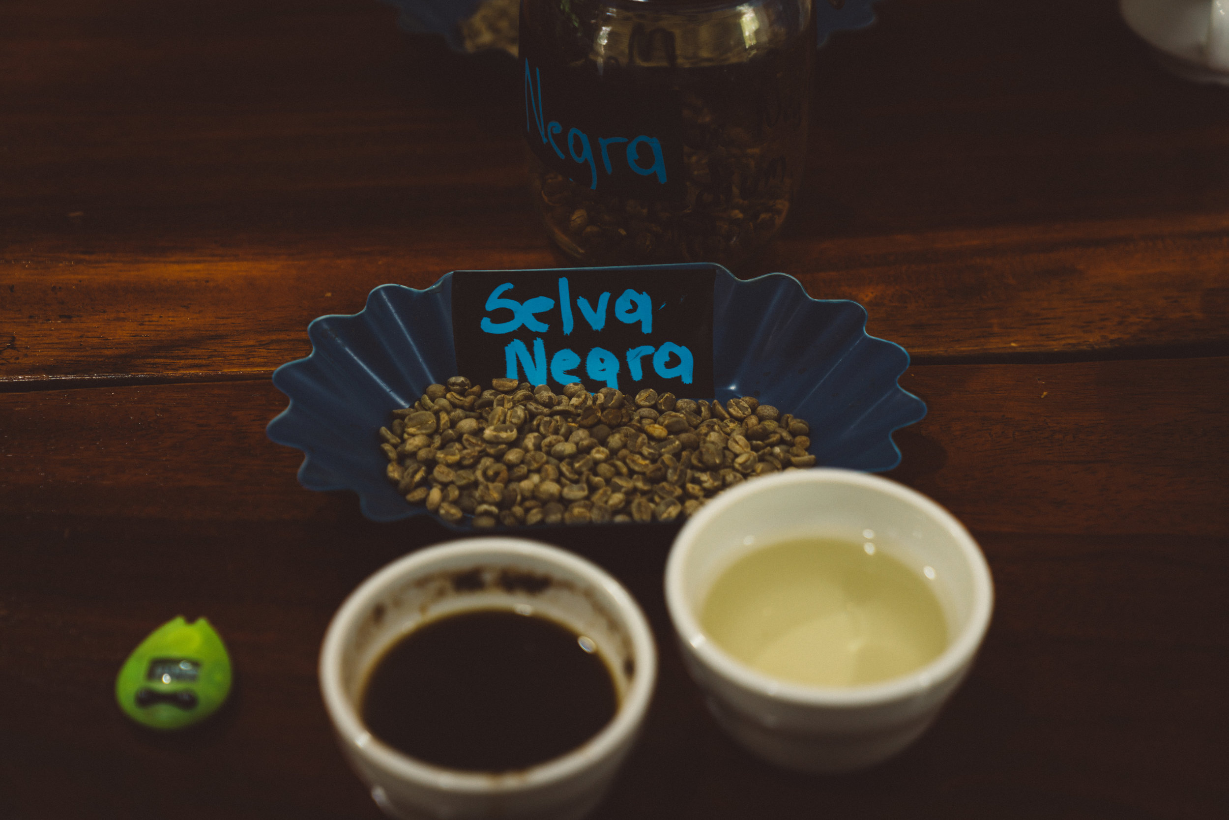 The Selva Negra coffee, with strong citrus notes due to the fact the coffee plants are grown amongst orange and lemon trees.