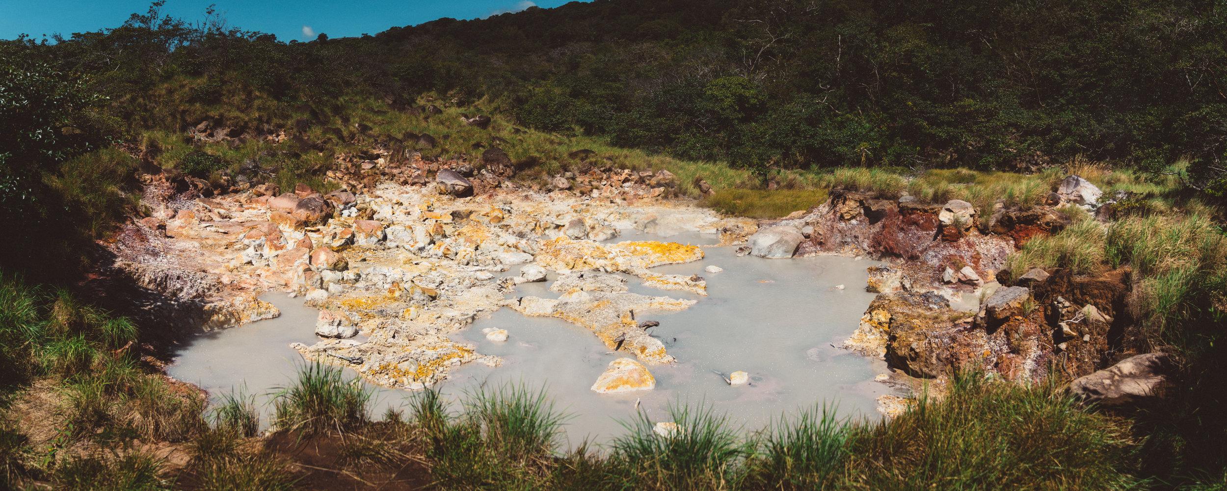 Mud pits at Rincon de la Vieja National Park.