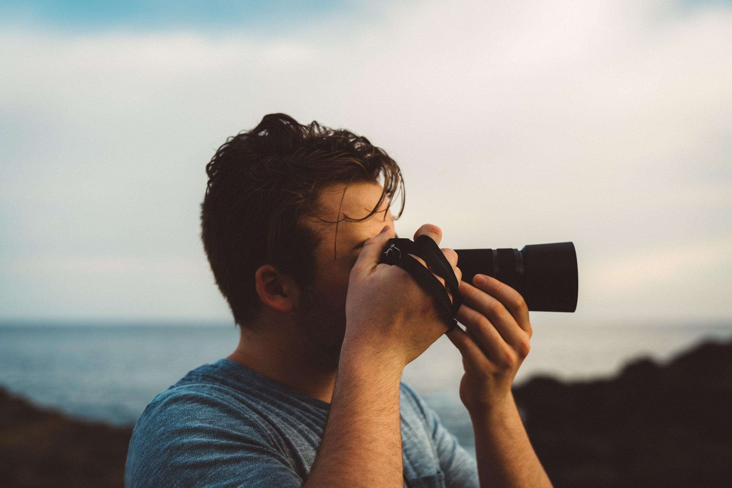 Jack  capturing the sunset in Montezuma.