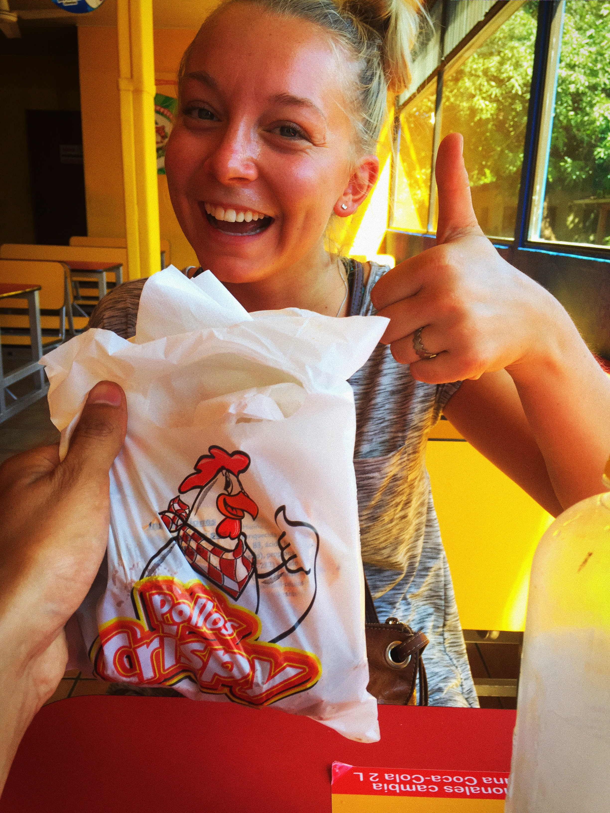 BONUS IPHONE PHOTO: All across Central America Danielle and I had seen an uncountable amount of fried chicken chains. While with Jaylor I'd mentioned this and we decided we needed to try some. Although Jaylor and Danielle and I never tried them together, the day after Jaylor left us we finally caved and tried some in Playa del Coco; specifically, Pollos Crispy. Solid 7/10.