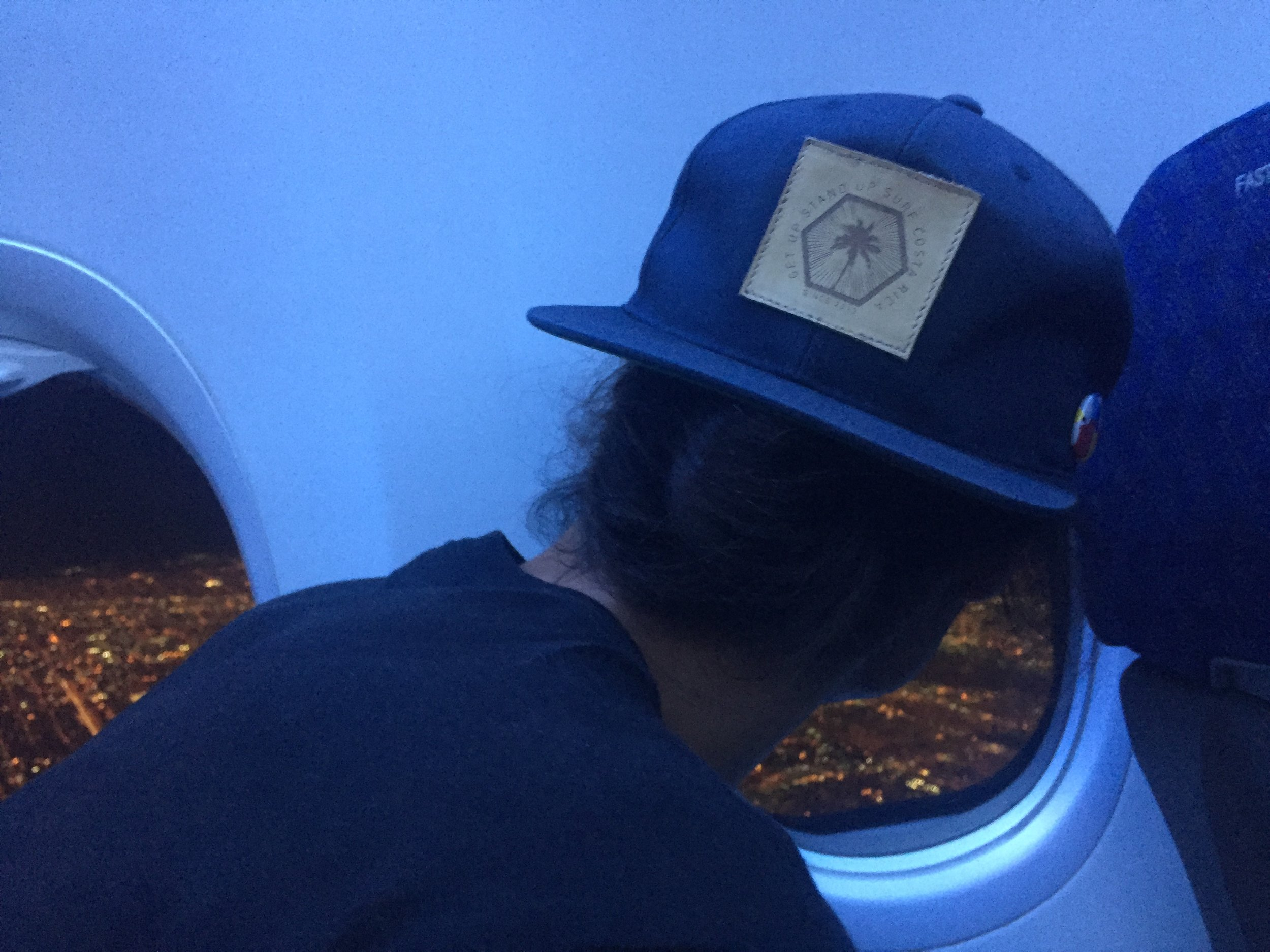 Danielle snapped this one of me (and my new hat) as we left Miami.