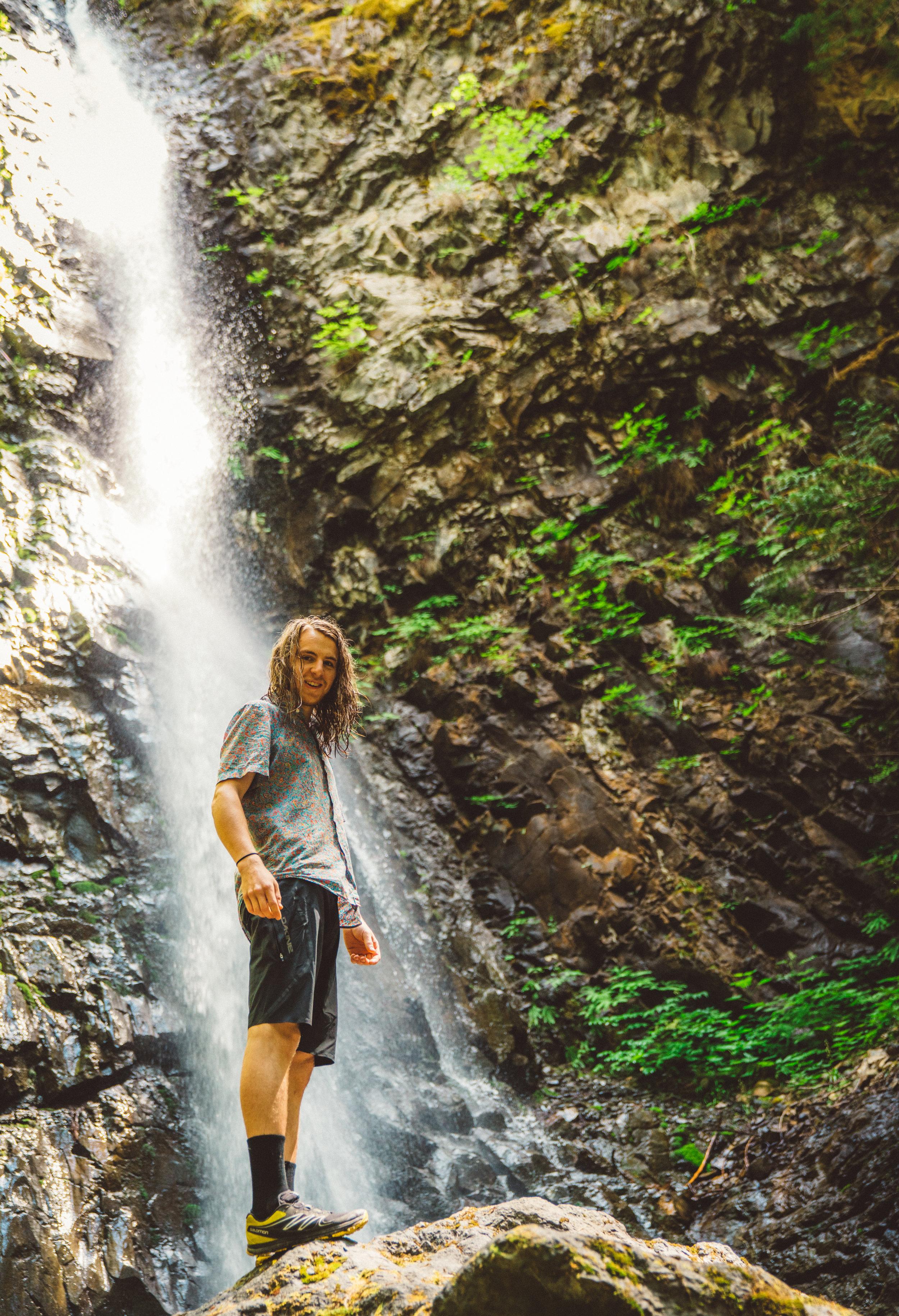 Grant at Lupin Falls.