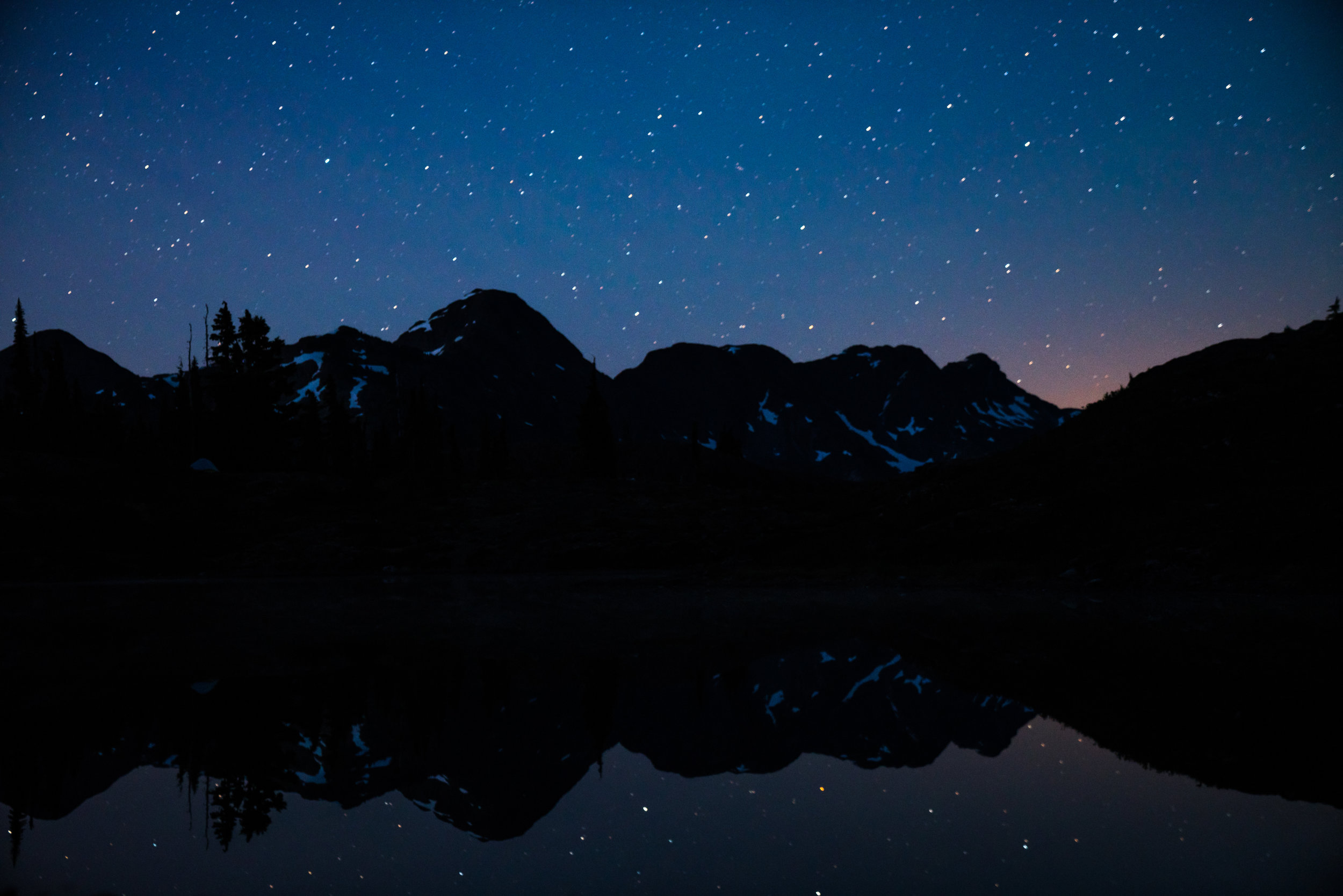 More stars, this time over the tarn.