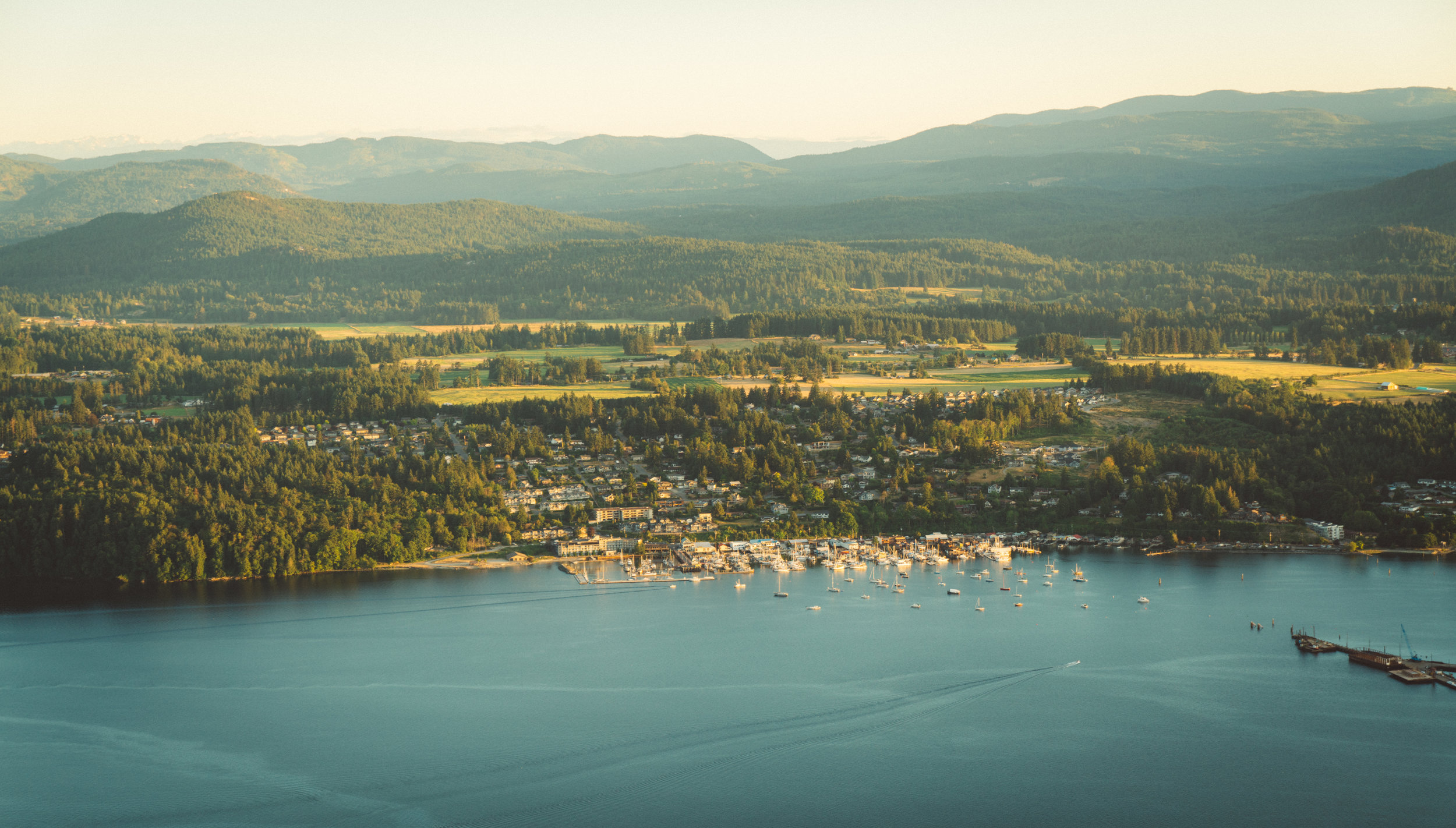 Cowichan Bay, the town of.