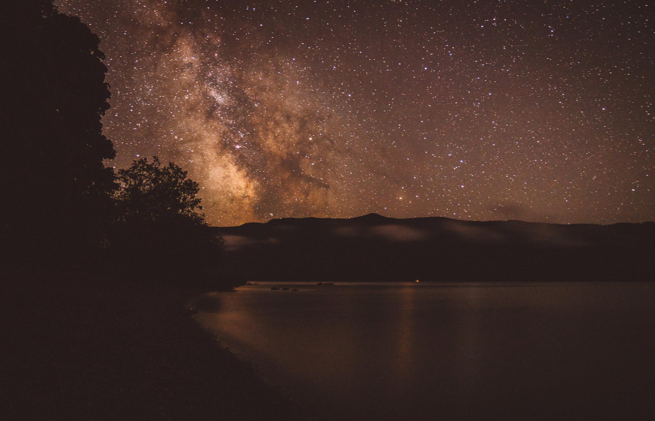 July 17, Milky Way over Lake Cowichan.
