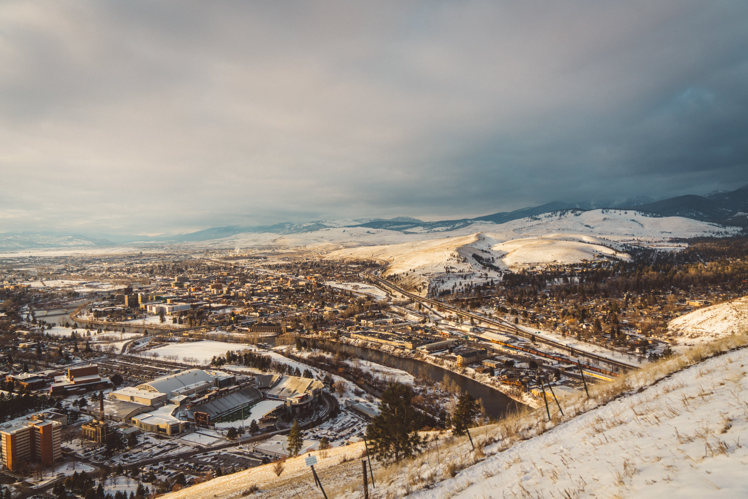 After we left the range we headed to Missoula, where we climbed to the 'M', which overlooks the city.