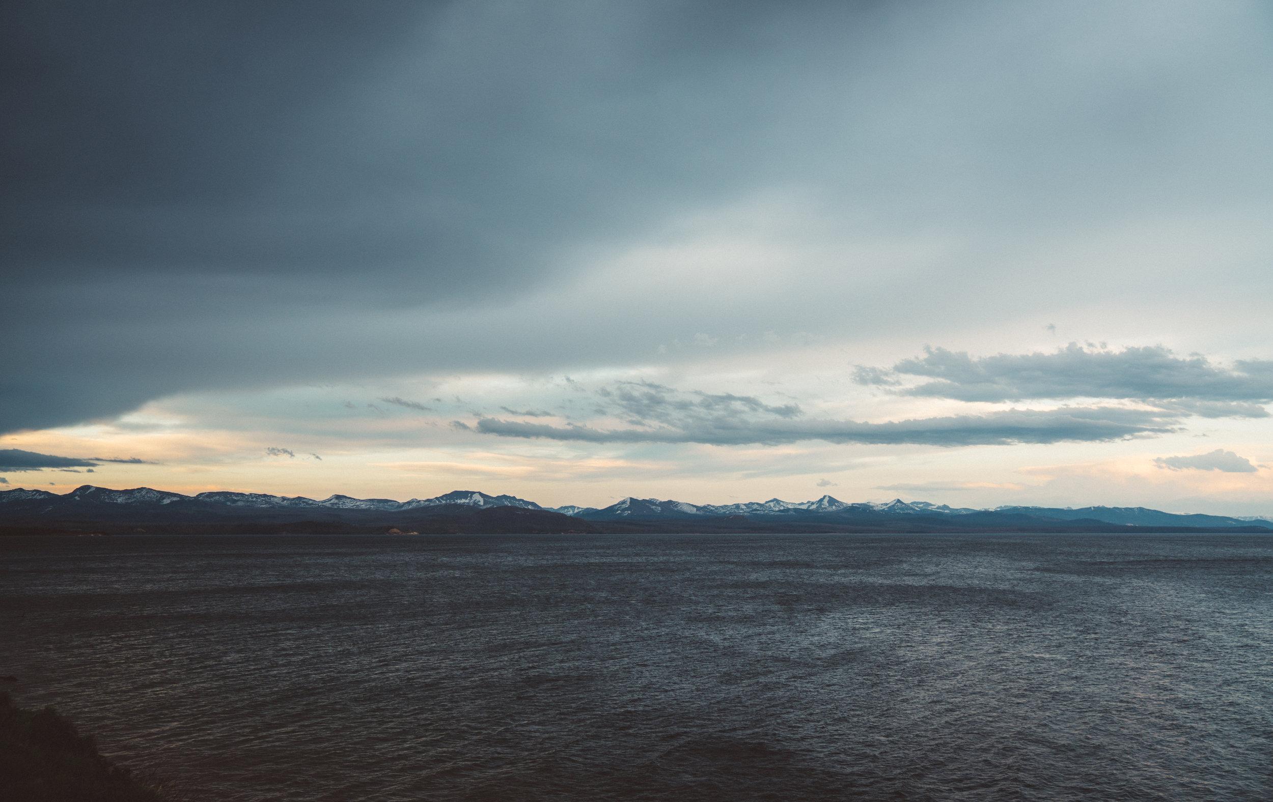The rain broke as we arrived at Yellowstone Lake.