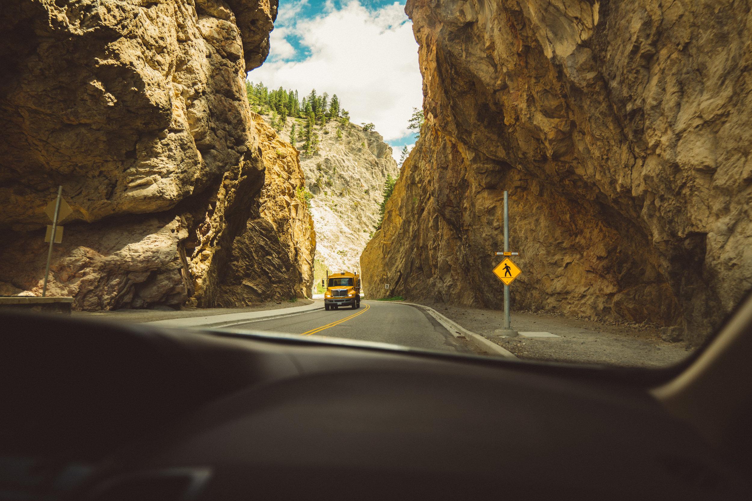 Heading towards Revelstoke.