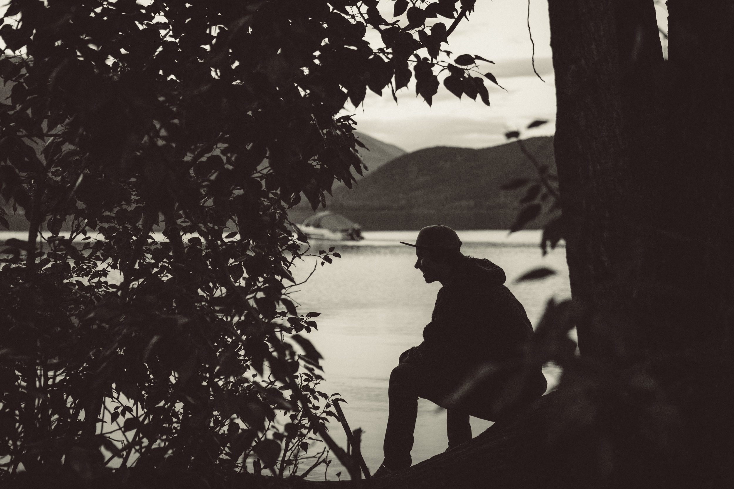 Ben at the lake.
