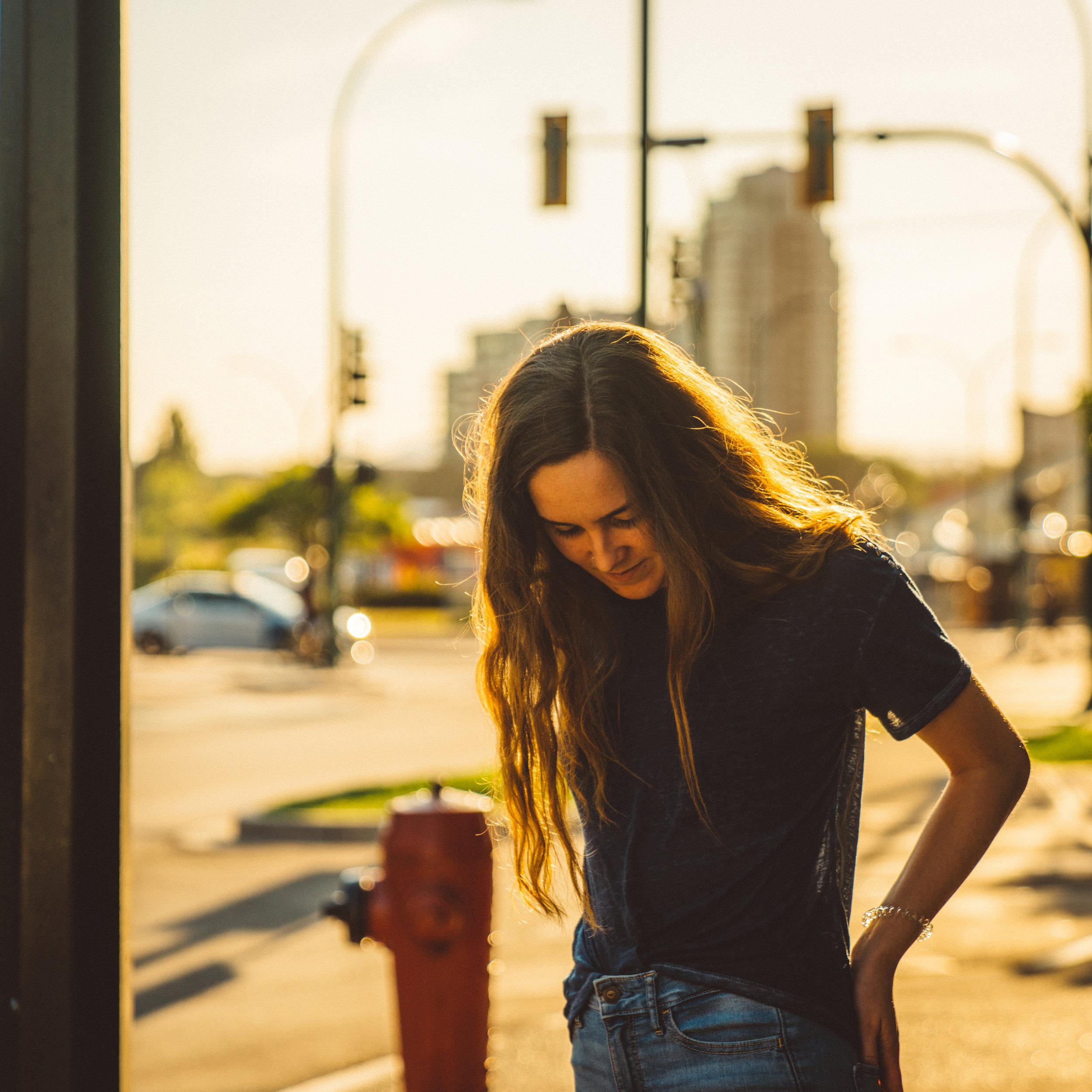 Annika on the street.