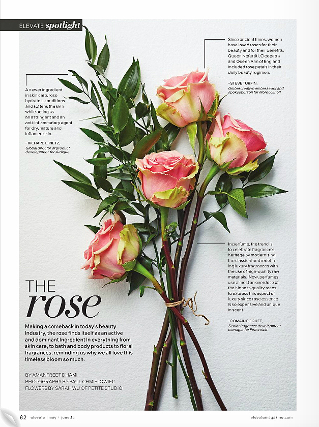 """The Rose.""  Elevate Magazine,  May/June 2015. Photo: Paul C."