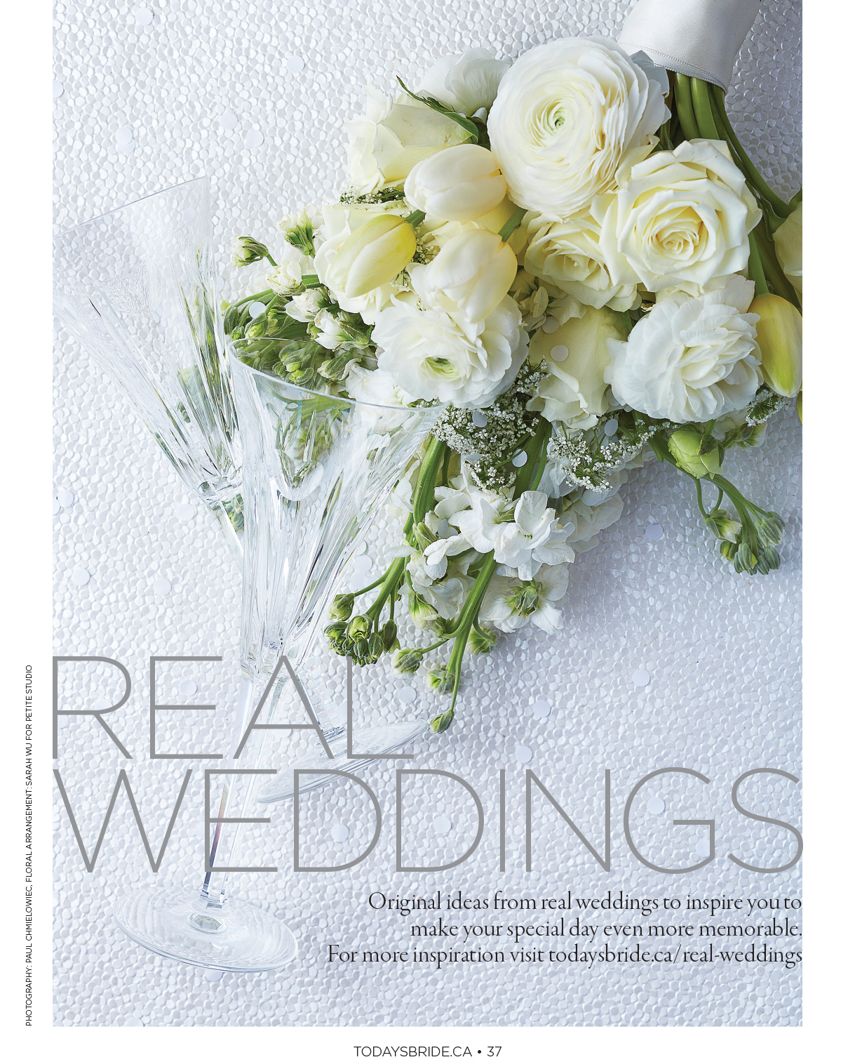 """""""Real Weddings."""" Today's Bride, Fall/Winter 2015.  Photo: Paul C. Art Direction & Product Styling: Susan Rogers"""
