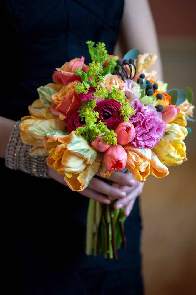 """""""The Blushing Flower.""""  WedLuxe Magazine,  November 9, 2014. Photo: Found In Love. Accessories: The Loved One"""