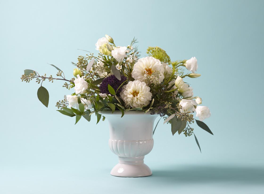 """""""How to make petite vintage-bottle floral arrangements,""""  by Karen Kirk.  Canadian Living Blog.  July 30, 2013."""
