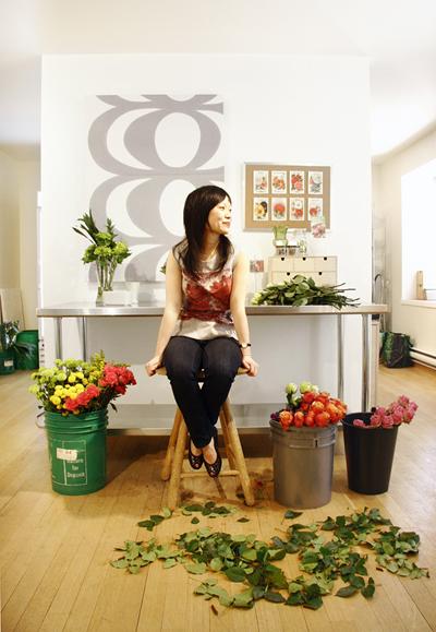 """New studio combines floral and graphic design.""   Design Edge Canada,  May 30, 2011. Photo: Natalia Dolan"