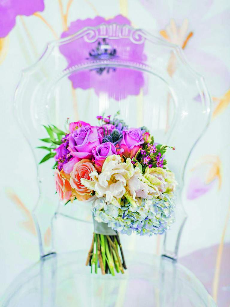 """The Poetry of Flowers.""  WedLuxe Magazine, Fall/Winter 2015. Photo: Artiese Studios. Event Design: Glaze & John"