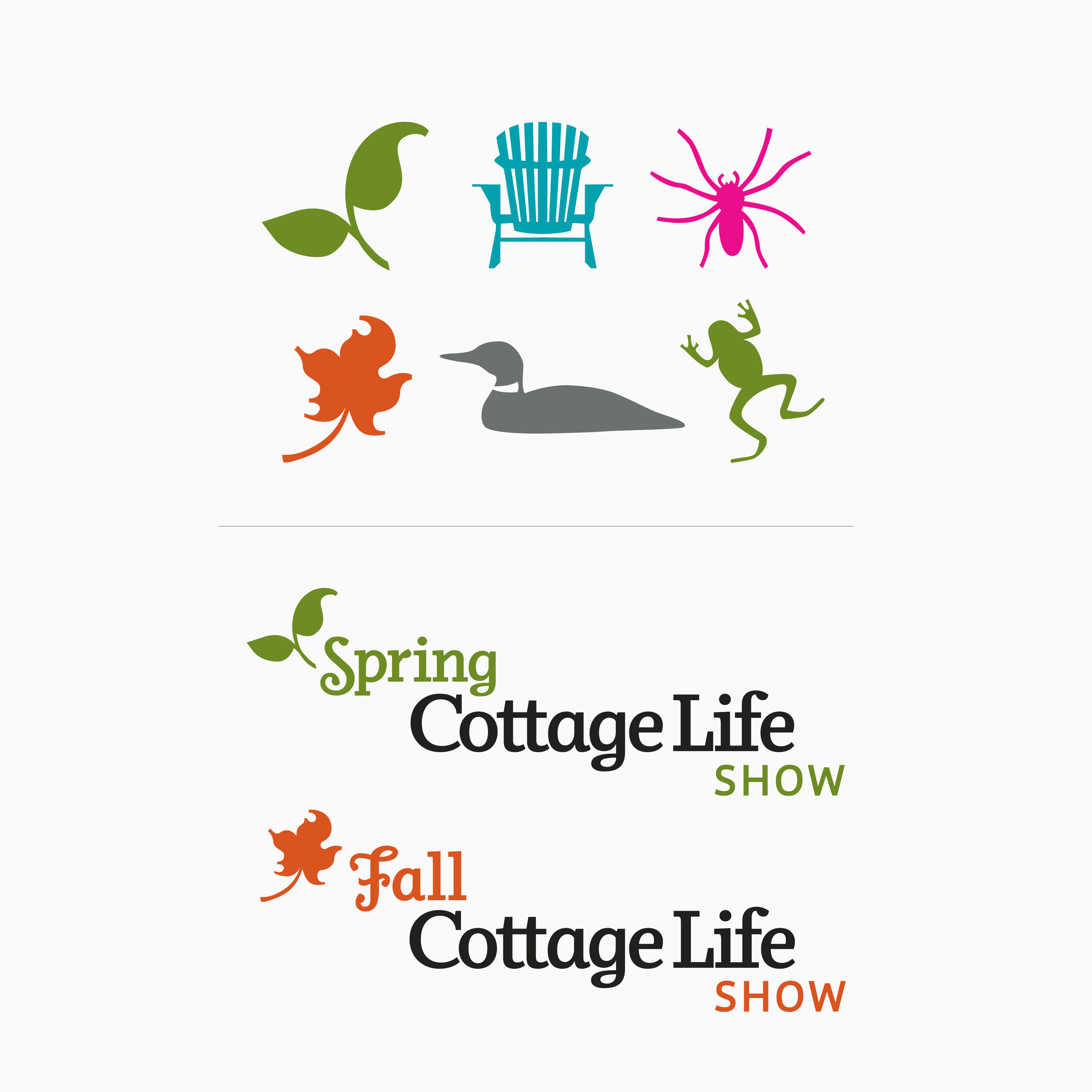 Cottage Life Magazine. A custom dingbat collection & logos for seasonal trade shows