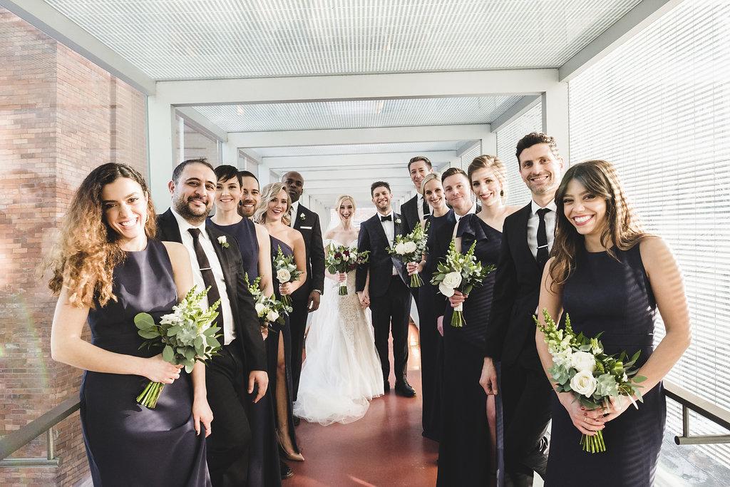 Caitlyn + Jonathan | Modern classic wedding at Canada's National Ballet School | Photo: Shlomi Amiga Weddings
