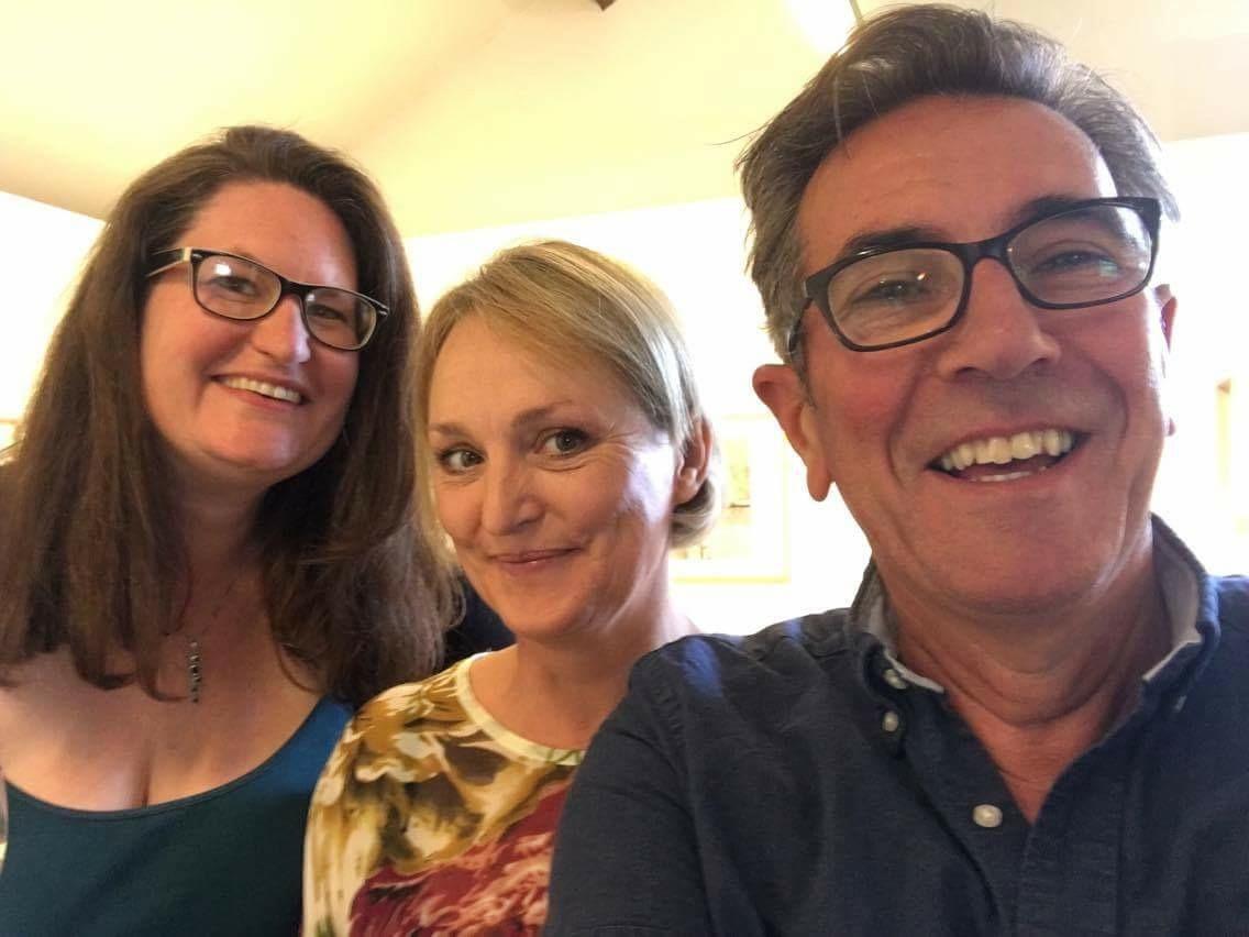 Me, Angela de Groot, and Stephen Yates