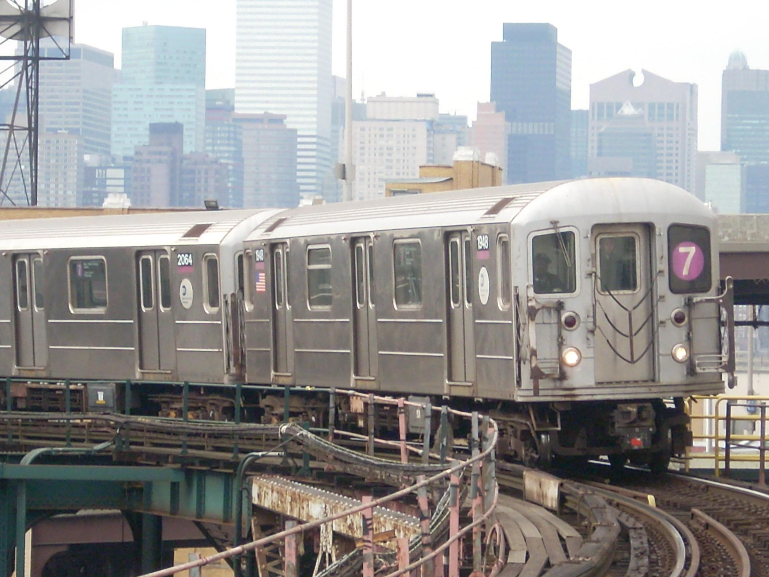 The 7 train at Queensboro Plaza (credit: Wikimedia Commons)