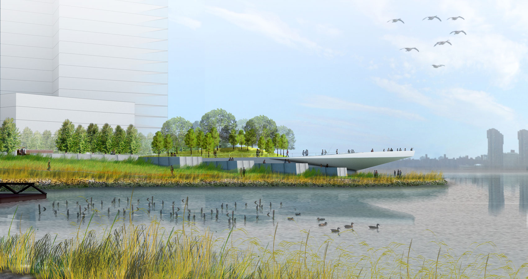Rendering of Phase II of Hunter's Point South Park in Long Island City (credit: Weiss/Manfredi)