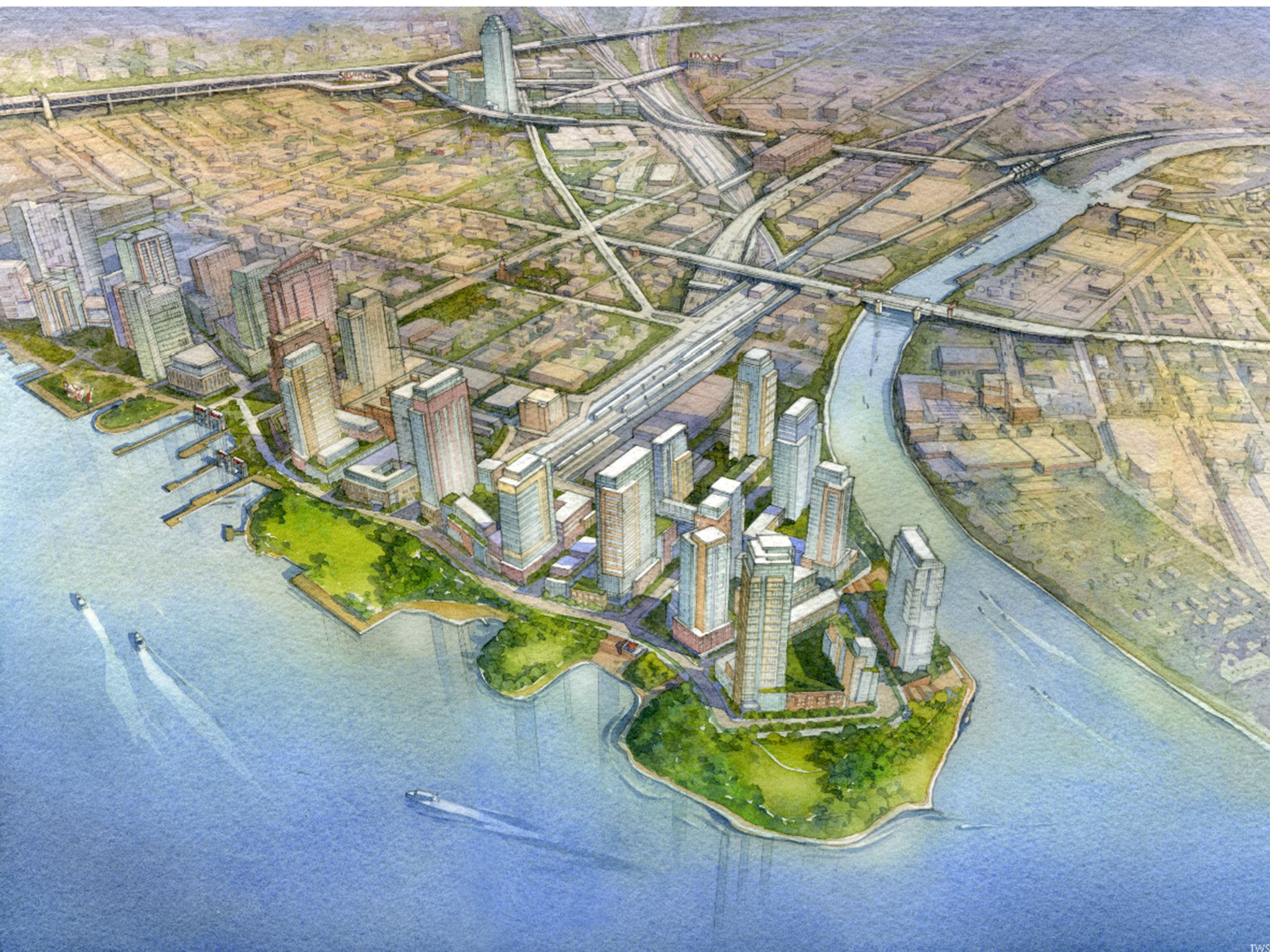 Rendering of Hunter's Point South (credit: NYCEDC)