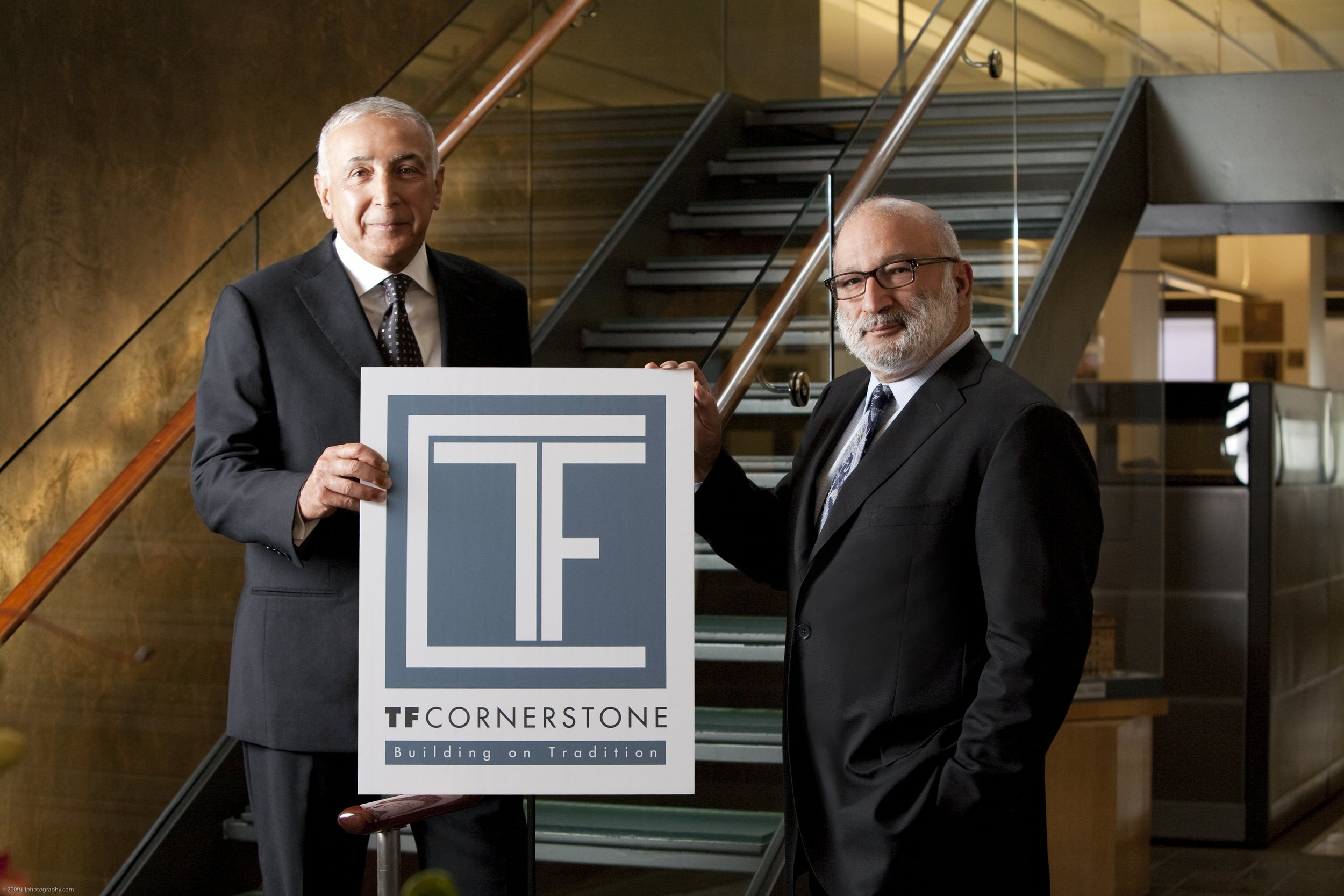 (From left) Tom and Fred Elghanayan of TF Cornerstone