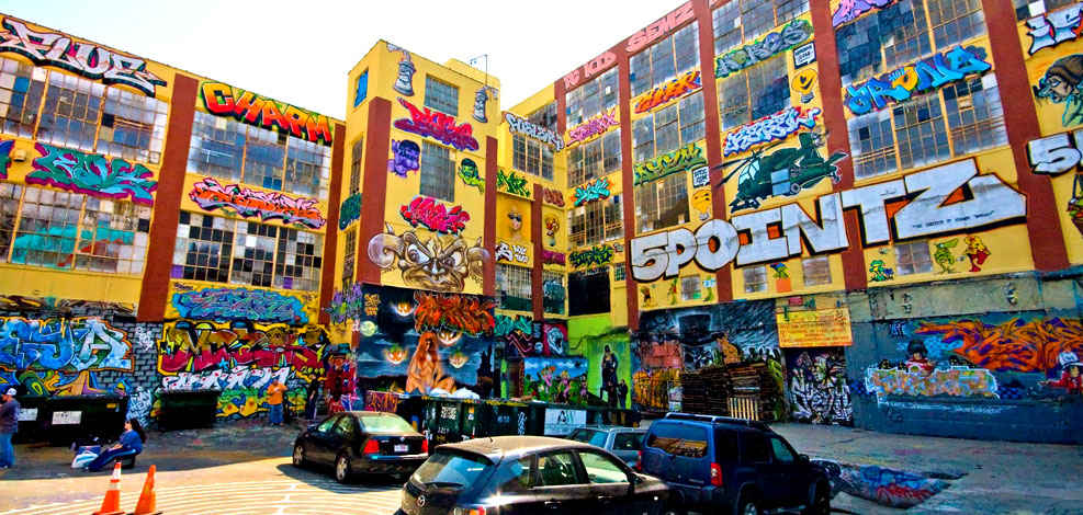 5Pointz in Long Island City, prior to its whitewashing and demolition