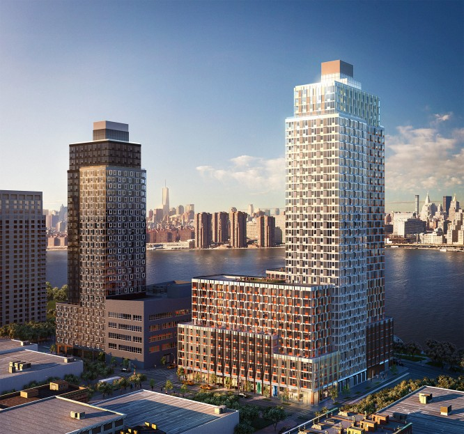 Rendering of retail at Related Companies' Hunter's Point South residential development in Long Island City (credit: Winick Realty Group)