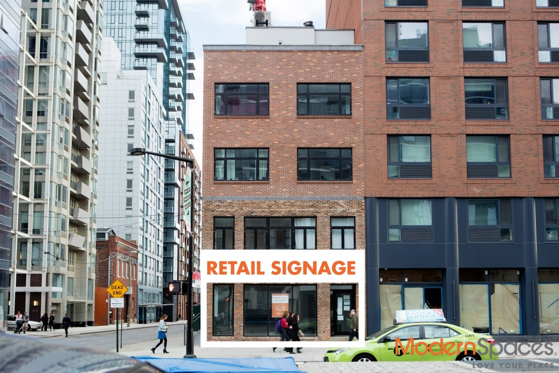 Rendering of retail space at 26-20 Jackson Avenue in Long Island City (credit: Modern Spaces)