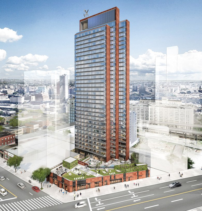 Rendering of 44-28 Purves Street in Long Island City (credit: FXFOWLE)